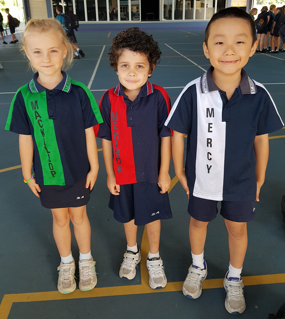 MacKillop (Green) – Merinda (Red) – Mercy (White)