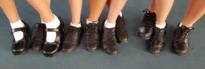 Uniform black shoes